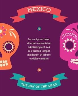 Print mexicaanse schedel dag van de doden