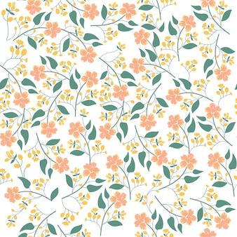 Print oranje bloem