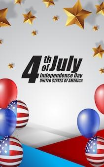 Print4th van juli onafhankelijkheidsdag de verenigde staten van amerika