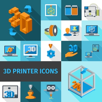 Printer 3d pictogrammen