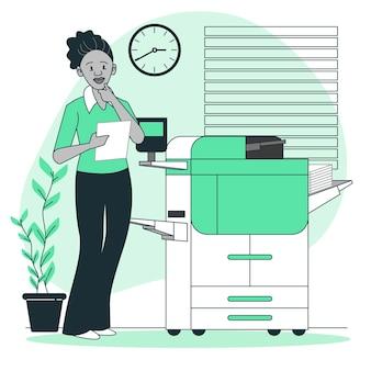 Printer concept illustratie