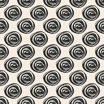 Printnaadloze stof patroon achtergrond met zwart-wit handtekening polka dot