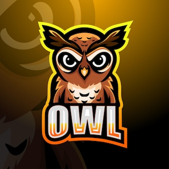 Printowl mascotte logo ontwerp