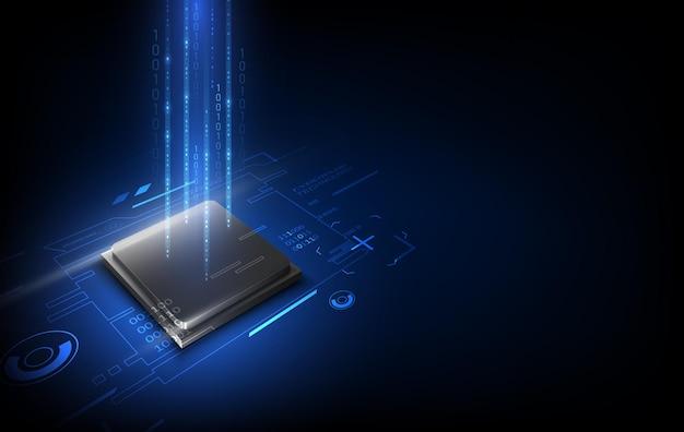 Printplaat. technische achtergrond. centrale computerprocessors cpu-concept. moederbord digitale chip. vectorillustratie.