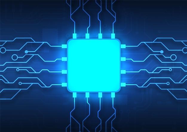 Printplaat technologie achtergrond met hi-tech digitale data-verbindingssysteem