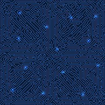 Printplaat vector naadloze textuur. sci fi elektronische achtergrond