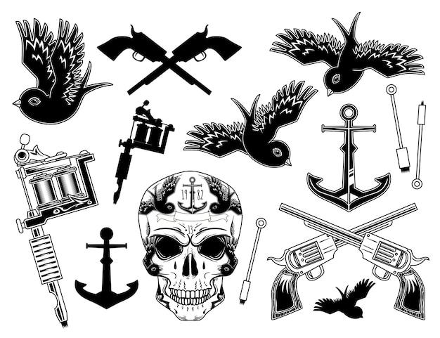 Prints van een reeks verschillende objecten