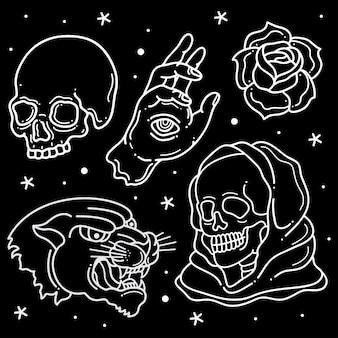 Printset flash-tattoo