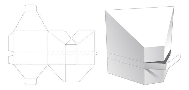Prismavormige doos met gestanste sjabloon met ritssluiting