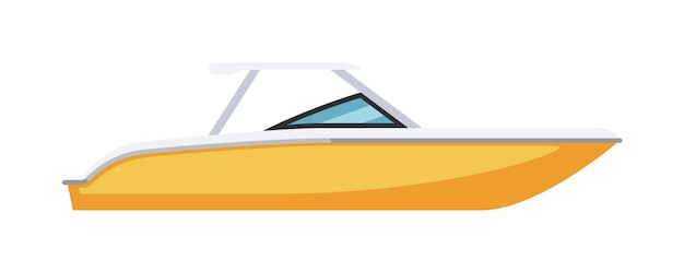 Private speed motor cutter boot geïsoleerd op witte achtergrond