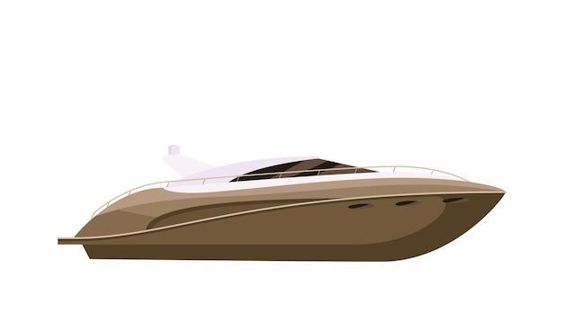 Privé snelheid jacht motorboot vaartuig op witte achtergrond