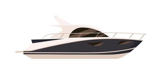Privé speed motorboot geïsoleerd op witte achtergrond