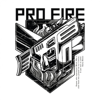 Pro fire black and white