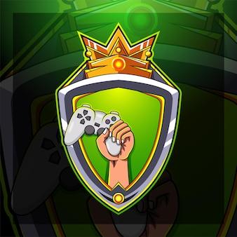 Pro-speler esport game-logo