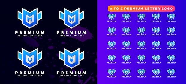 Pro-technologie en gaming a tot z letter logo-ontwerp