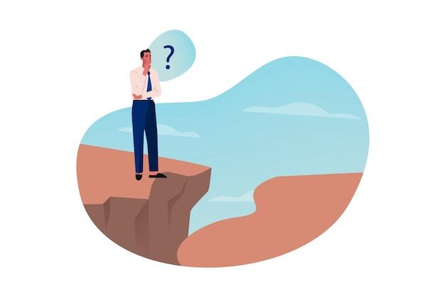 Probleem, denken, problemen, kloof, bedrijfsoplossing concept
