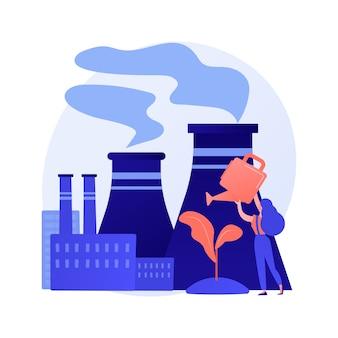 Probleem met ontbossing en kaalkap. stadsvervuiling en natuurecosysteem