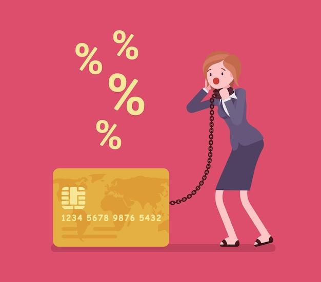 Probleem met percentagepercentage van creditcard vrouwelijke kaarthouder