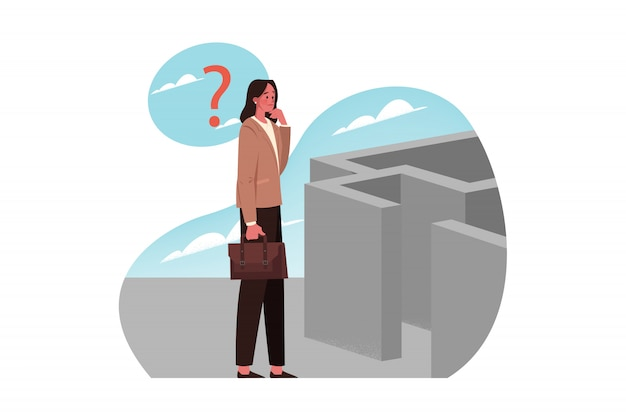Probleem, probleem, vraag, denken, strategie, zoeken, bedrijfsconcept