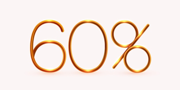Procent korting op creatieve compositie mega-uitverkoop of procent bonussymbool