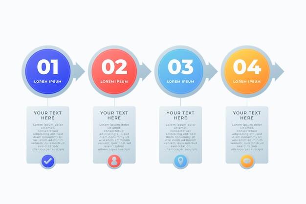 Processjabloon voor infographic