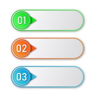 Processtappen. infographic elementen.