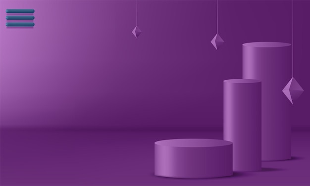 Product display podium ingericht. vectorillustratie