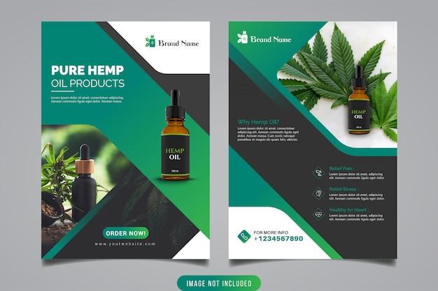 Product promotionele flyer-sjabloon
