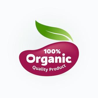 Productbadge met biologisch logo