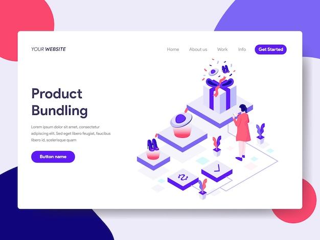 Productbundeling illustratie voor webpagina's