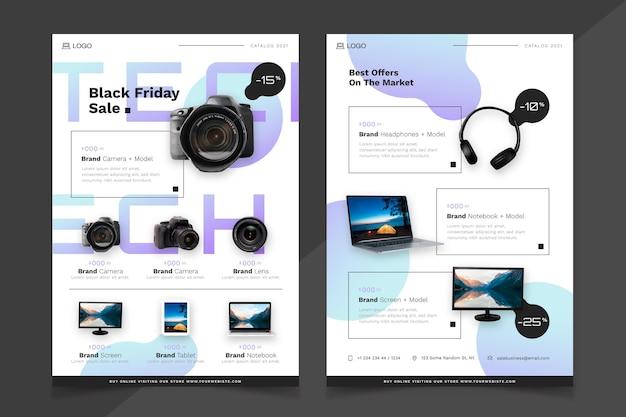 Productcatalogus met gradiënttechnologie met foto