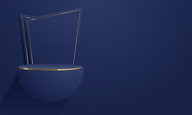 Producten tonen 3d-achtergrondpodiumscène