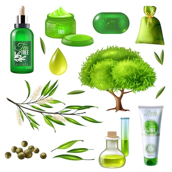 Producten van tea tree set