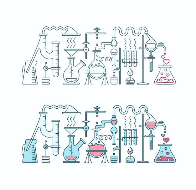 Productie van liefdeselixer in laboratorium.