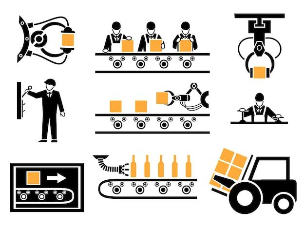 Productieproces of productie-elementen ingesteld.