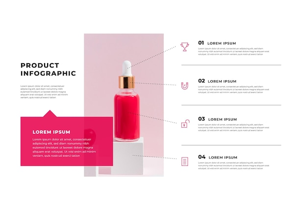 Productinfographics met foto