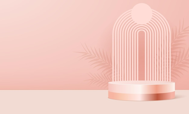 Productpodium op roze achtergrond