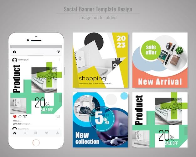 Productverkoop social media post template