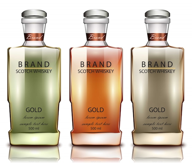 Productverpakkingsmodel van schotse whiskyfles
