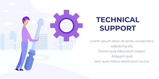 Prof technische ondersteuning service advertentiebanner