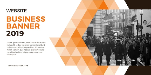 Profesional corporate business banner voor website en achtergrond