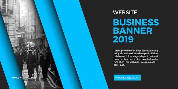 Profesional zakelijke banner website en achtergrond