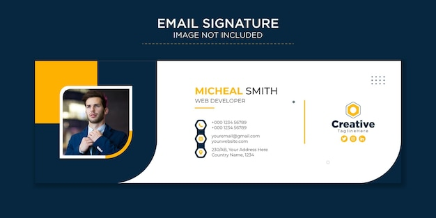 Professionals en moderne zakelijke e-mailhandtekening premium vector sjabloonontwerp