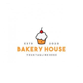 Professioneel bakkerij huis logo ontwerp