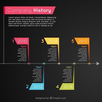 Professioneel bedrijf infographic