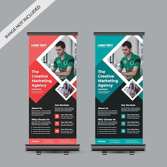 Professioneel bedrijf roll-up banner sjabloon