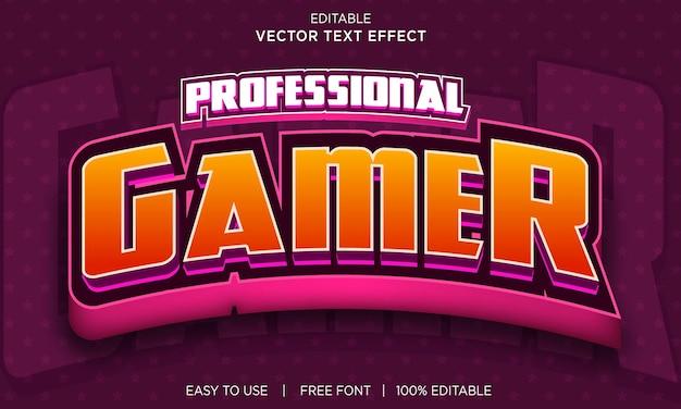 Professioneel bewerkbaar teksteffectontwerp voor gamers met premium vector
