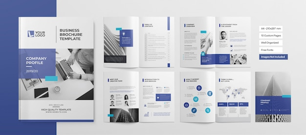 Professioneel boekje of zakelijke presentatie