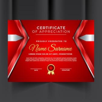 Professioneel certificaat van waardering sjabloon