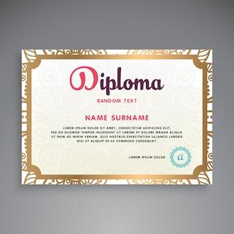 Professioneel certificaatsjabloonontwerp